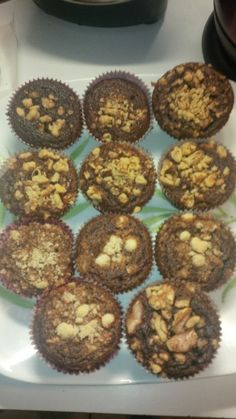 Chocolate Cupcakes with Walnut Topping