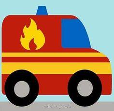 Canevas kit enfant complet le fourgon de pompier - Margot