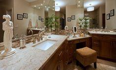 meubles salle de bains en bois massif de style classique