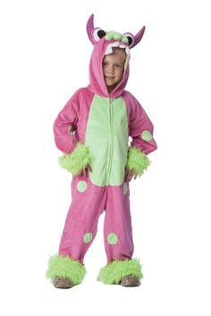 Pink grøn Monsterdragt