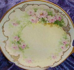pretty rose plate