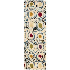 Safavieh Handmade Soho Modern Abstract Ivory/ Multi Wool Runner Rug (2' 6 x 12')