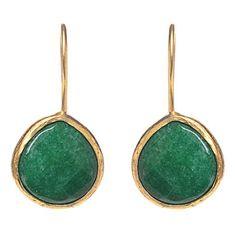 Greenwich Collection Green Onyx Drop Earrings