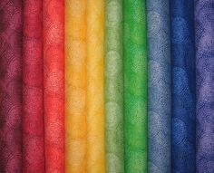 """30 2.5"""" x 42"""" RAINBOW JAZZ FABRIC QUILT STRIPS Jelly Roll Strips Cotton SEWING FABRIC"""