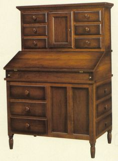 Amish Shaker Secretary Desk