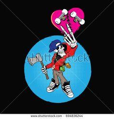 Hip-Hop Skull Skater