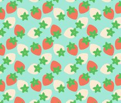 Strawberry Fields fabric by hugandkiss on Spoonflower - custom fabric