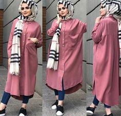 Modern Hijab Fashion, Street Hijab Fashion, Islamic Fashion, Abaya Fashion, Muslim Fashion, Fashion Outfits, Unique Dresses, Modest Dresses, Mode Abaya