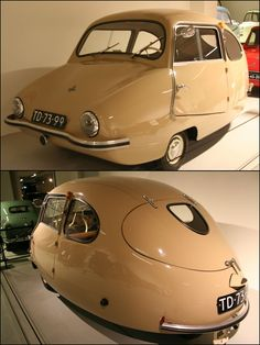 1955 Bambino 200.Rear Wheel drive 200cc two stroke engine with a top speed of 49 mph.