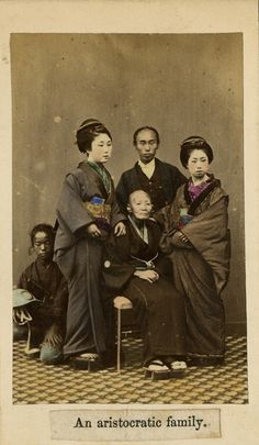 Japan, aristocratic family - 1865