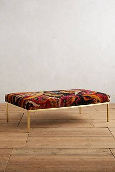 Paisley Silk Carpet Ottoman