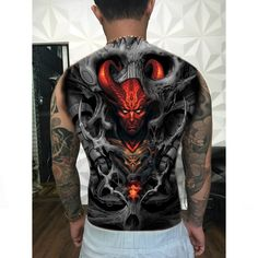 Full back traditional style tattoo reference – Finanz Bilder – EN Evil Tattoos, Octopus Tattoos, Weird Tattoos, Badass Tattoos, Skull Tattoos, Unique Tattoos, Beautiful Tattoos, Body Art Tattoos, Sleeve Tattoos
