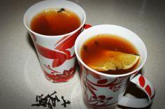 raspberry tea with orange and cloves