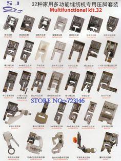 Peças acessórios para máquina de costura doméstica calcador 32 conjunto multifuncional para Brother Juki Singer, 12 peças de agulha de presente em Peça de maquinaria têxtil de Indústria e Ciência no AliExpress.com | Alibaba Group