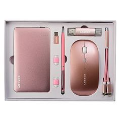 Amener Christmas Gifts for Him or Her, Cool Electronic Gadgets Luxury Business Gift Power Bank Gift Set – Rose Gold Cool Electronic Gadgets, Electronics Gadgets, Electronics Projects, Electronic Gifts, Gold Rooms, Accessoires Iphone, Christmas Gifts For Him, Christmas Ideas, Game Room Design
