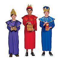 Wise Men Kings Boys Fancy Dress Christmas Nativity Play Kids Childs Costume 3-10
