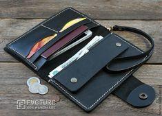 Leather Wallet Pattern, Leather Passport Wallet, Leather Card Wallet, Handmade Leather Wallet, Iphone Leather Case, Leather Pouch, Biker Leather, Leather Men, Minimalist Leather Wallet