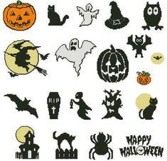 Simple, Basic Halloween Cross Stitch Projects