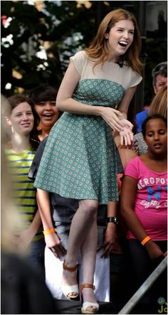 Sept 2012 // Anna Kendrik in ASOS Skater Dress In Daisy Print