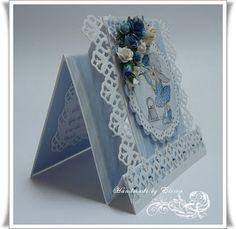 Geburtstagskarte in blau