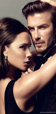 Vogue Paris January 2014 ● Victoria & David Beckham