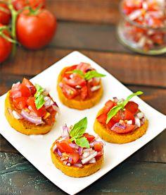 Sweet Potato Bruschetta - a healthy appetizer!  www.caseyjade.com