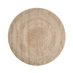 Beige Abstract Shag/Flokati Loomed Round Area Rug - ($180) ❤ liked on Polyvore featuring home, rugs, beige, safavieh rugs, low pile rug, beige rugs, polypropylene area rugs and floral rug