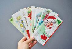 Mid-Century Christmas Cards - Unused on Etsy, $22.50