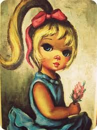Vintage Maio: 1960's 'BIG EYED' artwork that hung on my wall as a child.