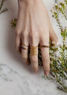 Delicate designs by Lara Melchior | & Other Stories #adornment #rings #otherstories