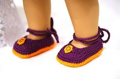 """Ravelry: cataddict's happy Easter egg surprise shoe pattern - free shoe pattern for american girl or other 18"""" dolls"""