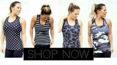 Workout tanks for coverage and comfort!