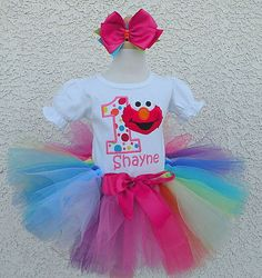 elmo first birthday outfit - Google Search