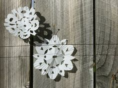 Cupcake Liner Snowflakes