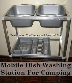 The Homestead Survival | Dish Washing Station for Camping or in an Emergency Situation - Homesteading