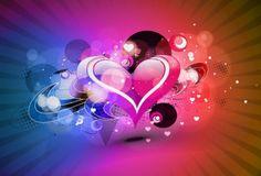 coração colorido - Pesquisa Google