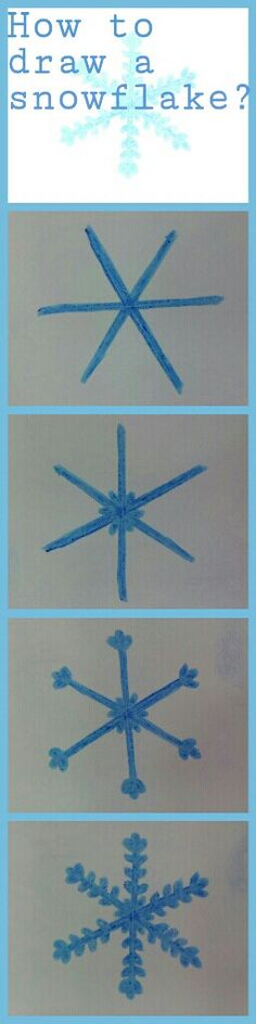 How to draw a snowflake?