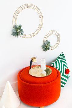 Vintage Glass Carafe   ~ Mary Wald's Place - Simple DIY Geometric Wreath - Sugar & Cloth