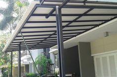 Kanopi Baja Ringan Patio Trellis, House Canopy, Carport Designs, Pergola Canopy, Gazebo, Canopy Design, Shade Structure, Patio Roof, Gate Design