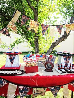 Just add some red, blue, and white candy, and you have a July 4th Dessert Table