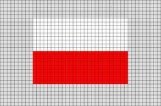 Flag of Poland Pixel Art