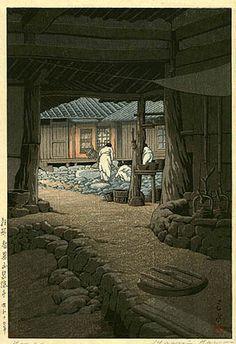 Chii Mountain Temple, Korea  by Kawase Hasui, 1939   (published by Watanabe Shozaburo)
