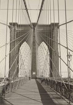 Todd Webb. Brooklyn Bridge, New York. 1946