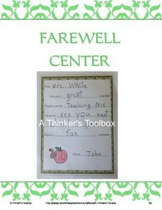 End Of The Year Fun - Center Activities by A Thinker's Toolbox