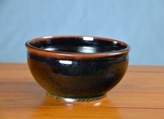 Black Large Serving Bowl, Hand Thrown Porcelain Pottery, Ceramic Serving Bowl, Large Salad Bowl, Mixing Bowl | Caldwell Pottery