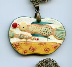 necklace, elsa mora (paper clay)