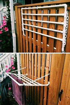 Pool Towel Storage Ideas pallet turned poolside towel holder free pallet little paint hobby lobby metal accent 20 Projects You Can Do With Pvc Pipes