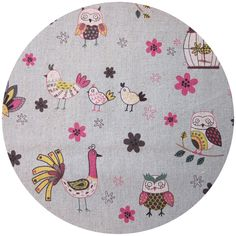 New Linen Blend Birds and Owls from Kei Japan, Long Live Collection