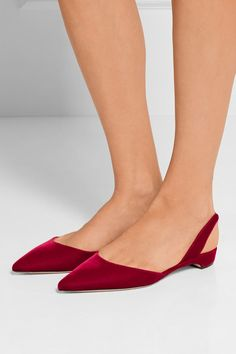 Rhea velvet point-toe flats by Paul Andrew