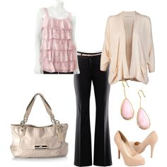 cream and pink.. so classy and comfortable